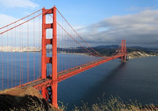 留学先の米サンフランシスコの象徴「ゴールデンゲート・ブリッジ」。